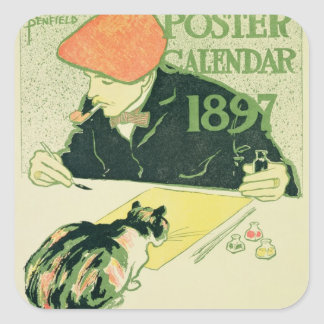 Poster Calendar, pub. by R.H. Russell & Son, 1897 Square Sticker