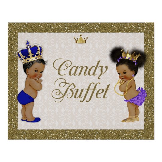 Poster Candy Buffet, gold, glitter