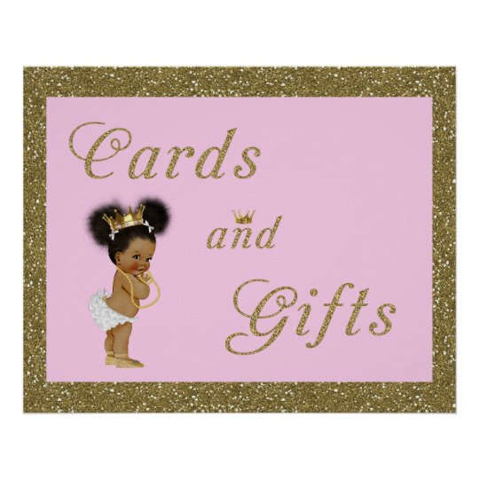 Poster Cards & Gifts, gold, glitter