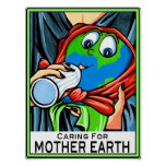 """Poster:  """"Caring for Mother Earth"""""""