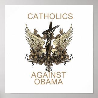 Poster: Catholics Against Obama