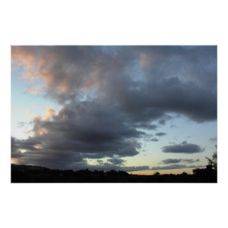 Poster: Clouds Over Paso Robles at Sunset Poster