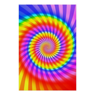Poster: Colorful Spiral Pattern
