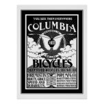 Poster Columbia Bicycles 1886 Advertisement
