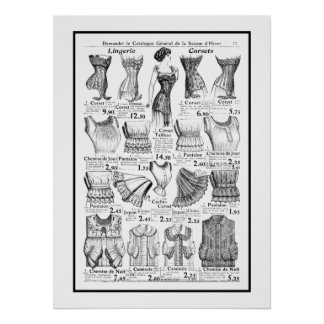 Poster Corsets 1909-1910 Advertisement Poster