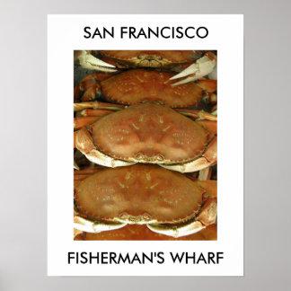 Poster, CRAB, SAN FRANCISCO, FISHERMAN'S WHARF