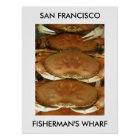 Poster, CRAB, SAN FRANCISCO, FISHERMAN'S WHARF Poster