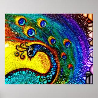 """Poster """"Dancing Peacock"""""""