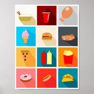 Poster Decorative Minimalista Food