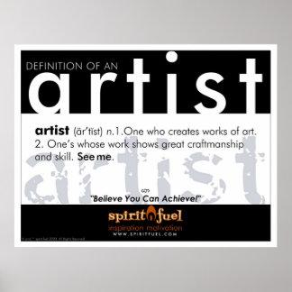 Poster Definition - Artist