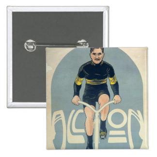 Poster depicting Francois Faber 15 Cm Square Badge