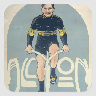 Poster depicting Francois Faber Square Sticker
