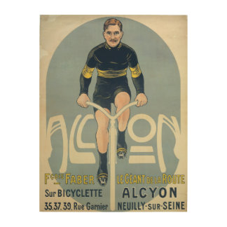 Poster depicting Francois Faber Wood Canvas