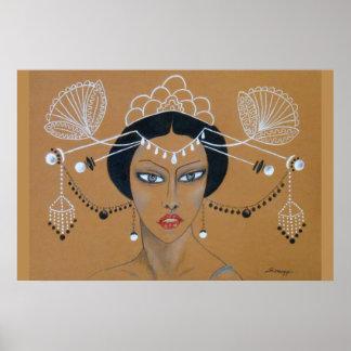 "Poster ""Eastern Elegance"" Orig. Asian/Art Deco"