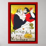 Poster Famous Artists Lautrec reine de joie 1892
