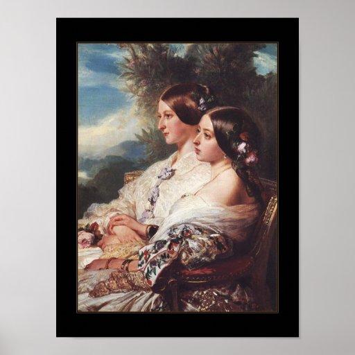 Poster Famous Vintage Art 1852 Queen Victoria