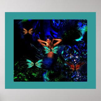 Poster Fantasy Art Butterfly Girl