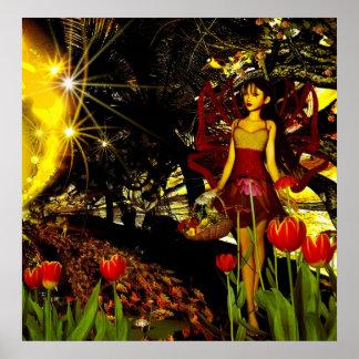 Poster Fantasy Art Fairies And Fallen Star