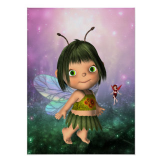 Poster Fantasy Art Little Fairy Girl