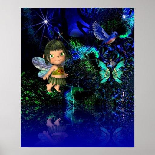 Poster Fantasy Art Star Angel Girl Children