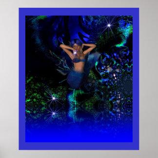 Poster Fantasy Art Star Mermaid