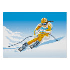 Poster Female Downhill Skier Winter Sport