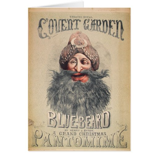 Poster for a Christmas pantomime Greeting Card