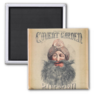 Poster for a Christmas pantomime Square Magnet