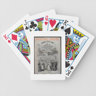 Poster for 'HMS Pinafore', performed by Gorman's C Bicycle Playing Cards