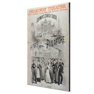 Poster for 'HMS Pinafore', performed by Gorman's C Canvas Print