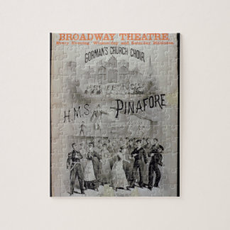 Poster for 'HMS Pinafore', performed by Gorman's C Jigsaw Puzzle