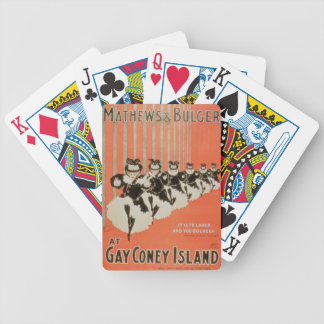 Poster for 'Mathews & Bulger' at Gay Coney Island Poker Deck