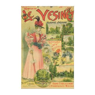 Poster for the Chemins de Fer de to Le Vesinet Canvas Print