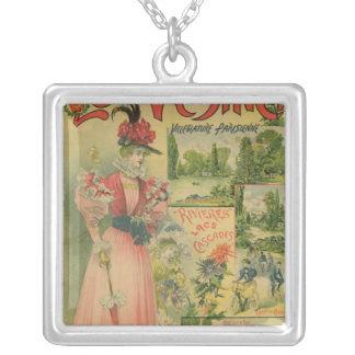Poster for the Chemins de Fer de to Le Vesinet Silver Plated Necklace