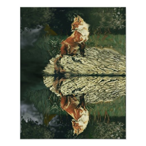 Poster - Fox at The River