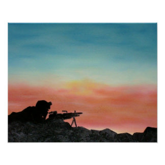 """Poster """"Freedom Endures"""" Soldier"""