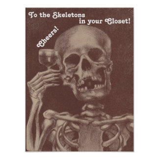 Poster fun Skeleton to the skeletons in your close