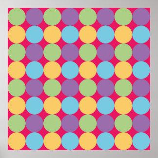 Poster geometric design Lunares1