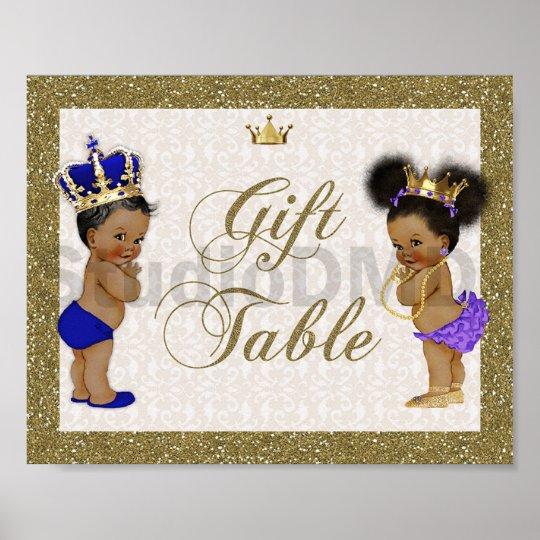 poster Gift Table, gold, glitter