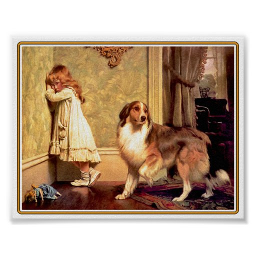 Poster: Girl with Pet Sheltie
