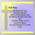 Poster-Hail Mary Prayer