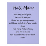 Poster ~ Hail Mary ~ Various Sizes & Paper Stock