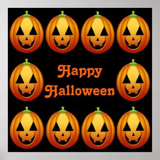 Poster Happy Halloween Pumpkins
