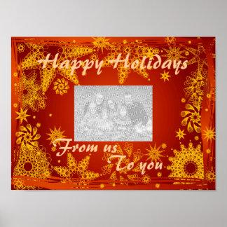 Poster- Holidays Photo Greetings