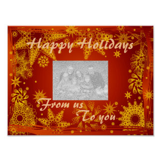 Poster- Holidays Photo Greetings Poster
