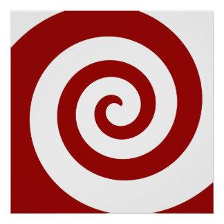 Poster, Hypno Spiral, Change The Size, Add Frame!