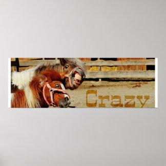 Poster insane horses 91.44x30.48cm, (chechmate)