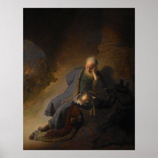 Poster Jeremiah Rembrandt
