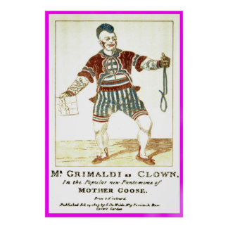 Poster - Joseph 'Joey' Grimaldi Jnr, as 'Clown'