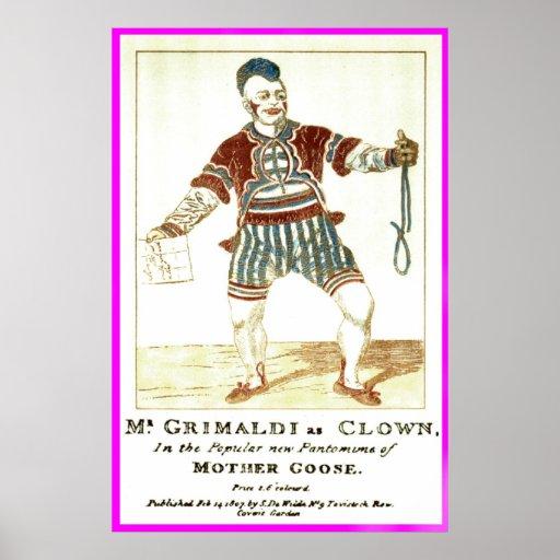 Poster - Joseph 'Joey' Grimaldi Jnr, as 'Clown'